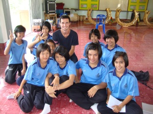 Taken with some students in 2010, when I briefly taught English in Thailand while traveling.