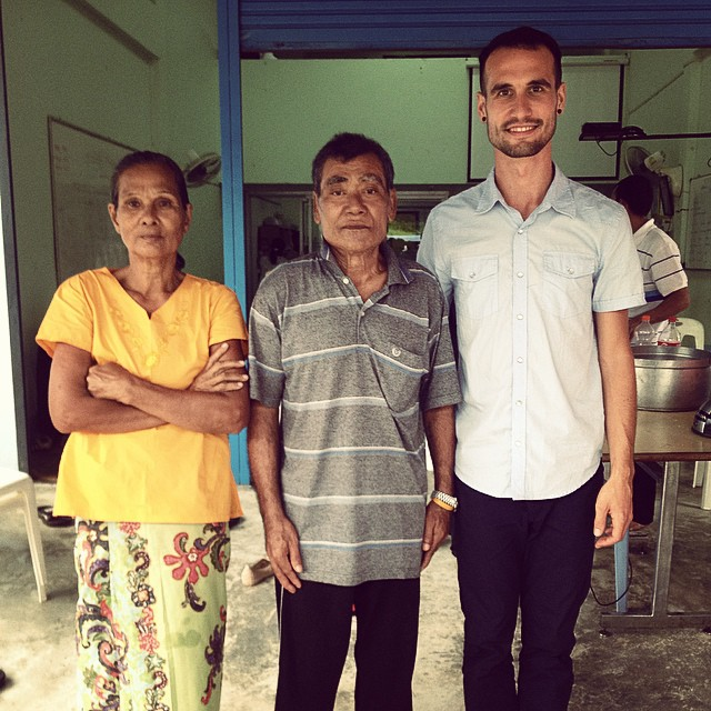On this morning I had the privilege and honor of sharing at a Burmese church. Afterwards, when I offered to pray, this husband and wife came forward. After praying over an area of pain that the man pointed out, I asked the pastor to translate and ask the man if the pain was gone. From what I could understand, the man replied that it was. According to the pastor, this Burmese man had been a Buddhist monk for 7 years before becoming a Christian 2 years ago. Some Burmese travel around 1 1/2 hours to come to church, and today was pouring rain. Many have come to Thailand over the years from Burma/Myanmar to look for work; most men end up working at sea in the fishing industry. From what I understand, many are illegal immigrants, and therefore have few to no rights in Thailand.