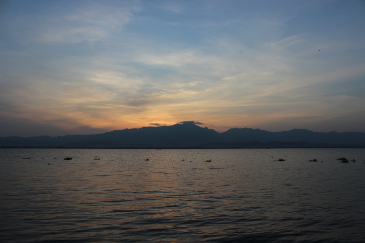 Sunset over Phayao Lake, only a few minutes from home.