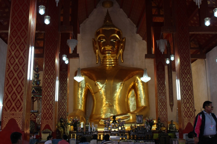 14 metros wide by 18 meters high, this Buddha statue took 33 years to complete - it's one of the biggest of its kind.