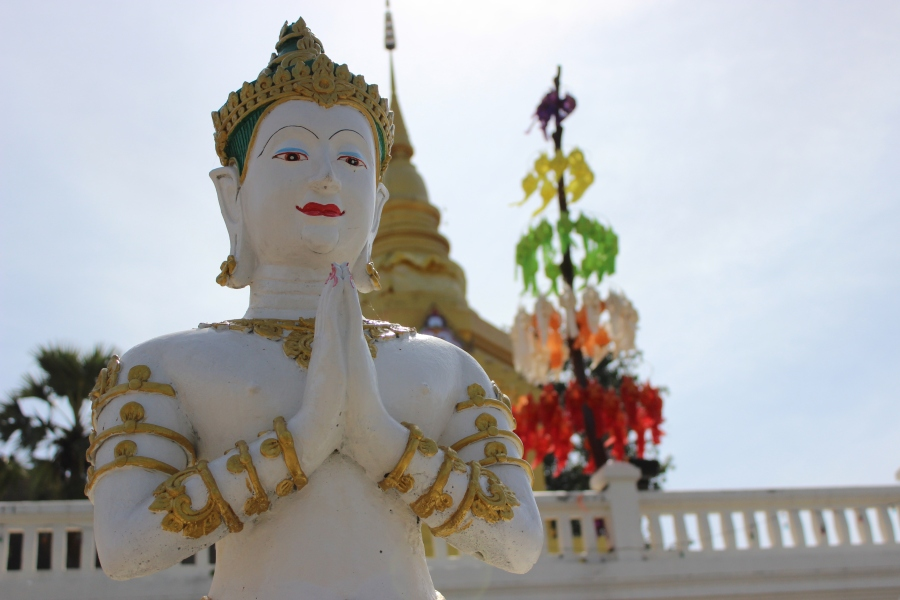 """There are many """"wats""""(temples) here in northern Thailand - at least one in every village, and often multiple in towns and cities."""