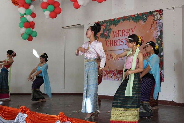 "A dance perfumed by some of the school's ""lady boys""."