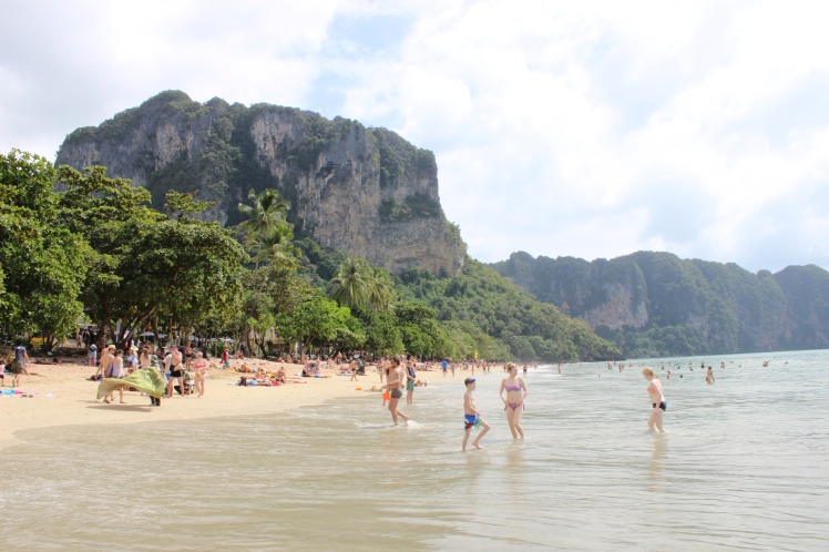Ao Nang beach in Krabi, for New Year's break.
