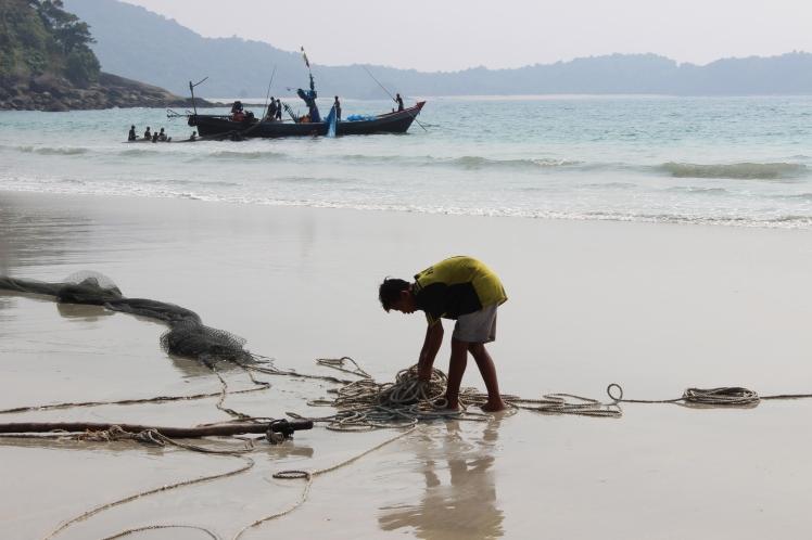 Fishermen for company.